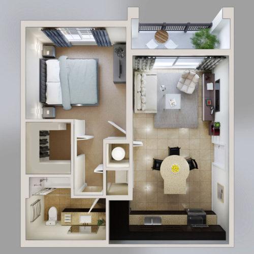 Infografía 3D planos de venta