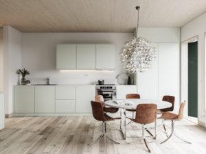 Infografía 3D interior vivienda